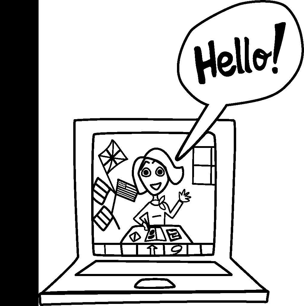 Ordinateur Langues Noir